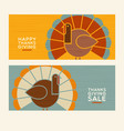 happy thanksgiving abstract turkey banners vector image