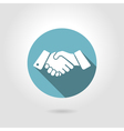 icon shaking hands vector image vector image