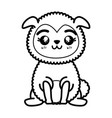 Isolated cute standing sheep
