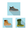 isolated object of shoe and footwear icon set of vector image