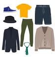 Man clothing set vector image vector image