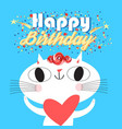 merry a happy birthday vector image vector image