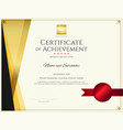 modern certificate template with elegant border vector image vector image
