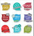 modern sale banners and labels collection 05 vector image vector image