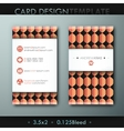 Modern simple vintage business card template with vector image vector image