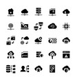 network hosting icon set in flat style vector image