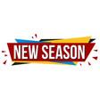 new season banner design vector image vector image