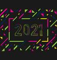 new year 2021 geometric background 2021 logo vector image