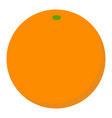 orange fruit icon flat style vector image vector image