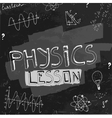 Physics blackboard image vector image vector image