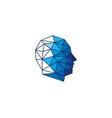 pixel human head logo icon design vector image vector image