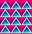 red triangle seamless pattern vector image vector image