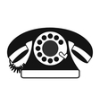 Retro red telephone black simple icon vector image