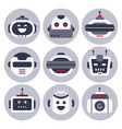robot icon robotic chatbot avatar computer chat vector image vector image