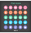Round Flat Icon Set 3 vector image vector image