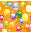 seamless pattern with balloons on orange vector image vector image