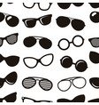 seamless pattern with black retro sunglasses icons vector image