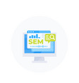 sem search engine marketing vector image