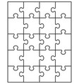separate parts of puzzle vector image vector image