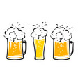 set beer mug with bubbles and dribbles