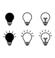 set lamp icons line art style electricity vector image