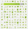 set of building stickers vector image