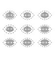 set of line eyes isolated on vector image vector image
