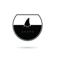shark in water icon black vector image