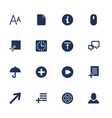 simple set icon for app programs and sites vector image