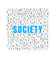 society people city social public background vector image