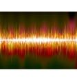 Sound waves on black background EPS10 vector image vector image