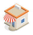 store flat isometric vector image