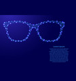 sunglasses goggles from futuristic polygonal blue vector image