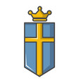 sweden crown icon cartoon style vector image vector image