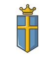 sweden crown icon cartoon style vector image