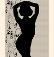 swimsuit silhouette vector image vector image