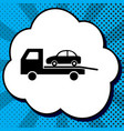 tow car evacuation sign black icon in vector image