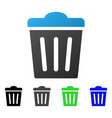 trash can flat gradient icon vector image vector image