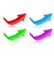 up 3d arrows colored 3d icons set vector image vector image