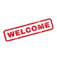 Welcome Rubber Stamp vector image vector image