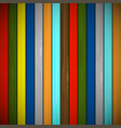wooden background of multicolored boards vector image