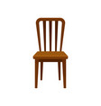 wooden chair comfortable furniture element for vector image vector image