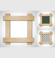 wooden frame of four plates vector image