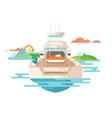 yacht flat design vector image vector image