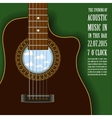 Poster with acoustic guitar vector image