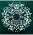 Round Indian pattern mandala vector image
