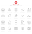Set of Thin Line SEO and Development icons Set 1 vector image