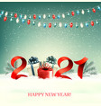 2021 new year background with gift boxes and vector image vector image