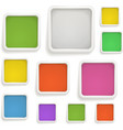 Abstract background of color boxes Template for a vector image vector image
