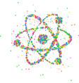 abstract nucleus an atom vector image